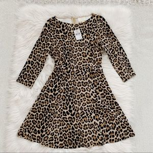 NWT Kate Spade Brown Leopard Fit and Flare Dress